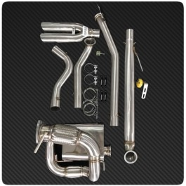 1320 Performance Dual Tip Rear Center Exit Exhaust System for the Polaris Slingshot (2015-16)