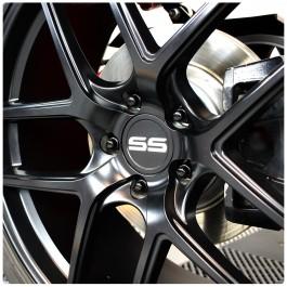 Aluminum SS Center Wheel Cap Set for use with all Stock Polaris Slingshot Wheels (3 Pack)