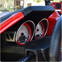 **CLOSEOUT** Aluminum Gauge Bezels for the Polaris Slingshot (Pair) (2015-19)