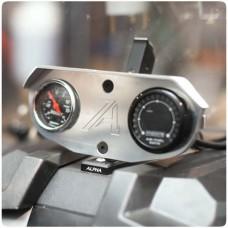 Alpha Powersport 52mm Adjustable Dual Gauge Pod Bezel for the Polaris Slingshot