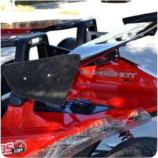 "Alpha Carbon Fiber 56"" Rear Spoiler for the Polaris Slingshot"