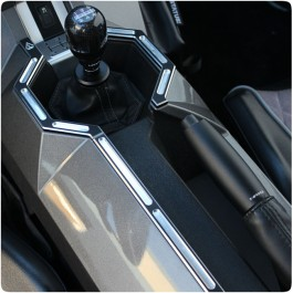 Assault Industries Billet Aluminum Center Console Trim Kit for the Polaris Slingshot (3 Pieces)