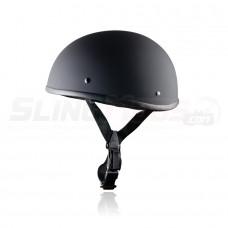 World's Smallest & Lightest DOT Approved Beanie Helmet - Flat Black Fiberglass