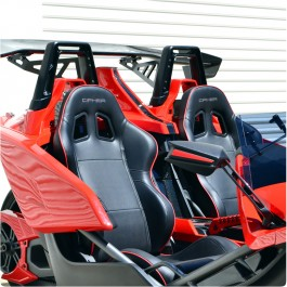 Cipher Auto CPA1031 Series Racing Seats for the Polaris Slingshot (Pair)