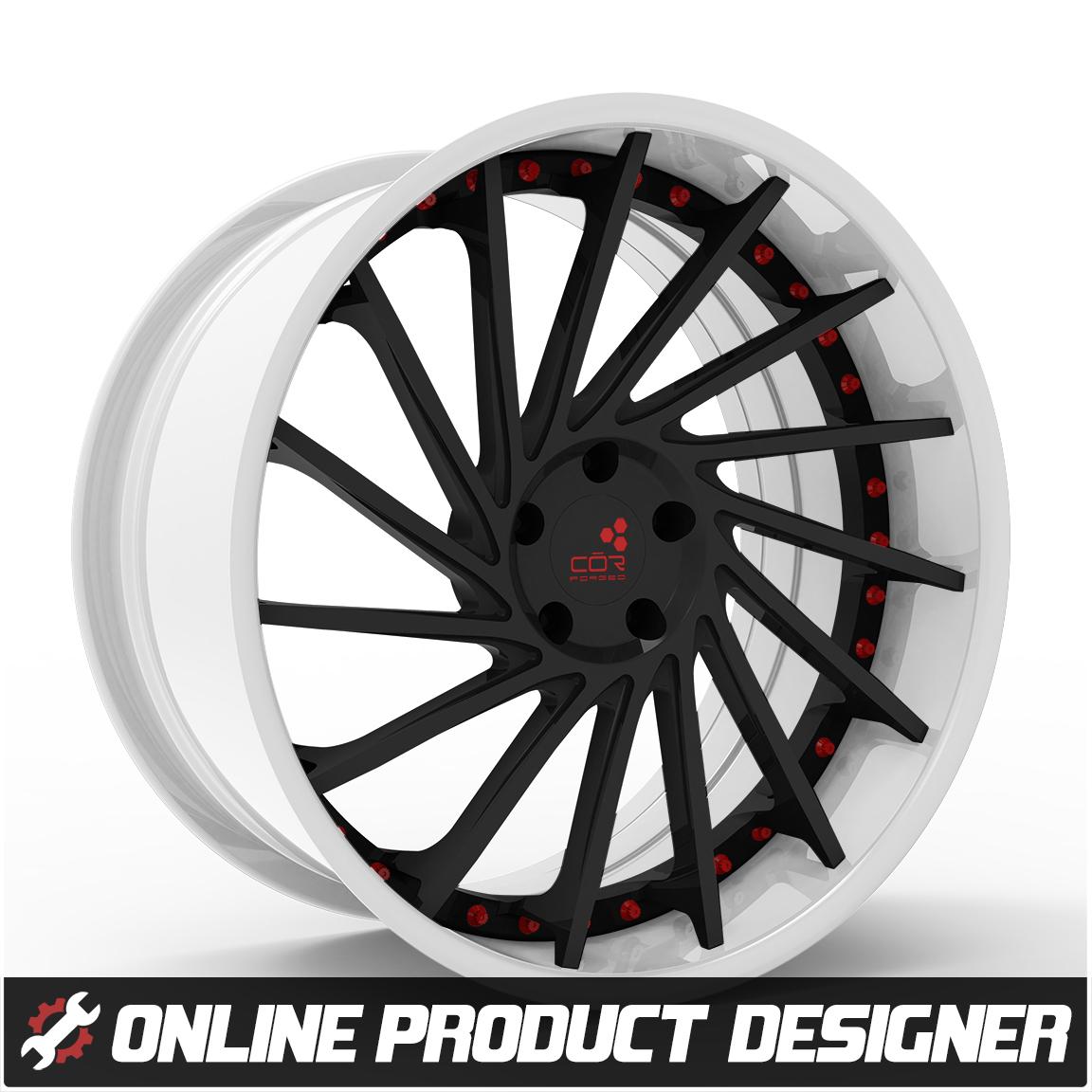 """COR 20"""" / 22"""" Turbina Style Custom Wheel Builder for the Polaris Slingshot (Set of 3)"""