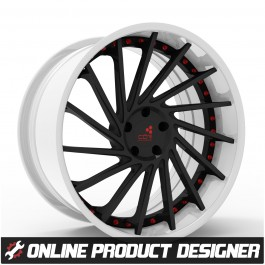 "COR 20"" / 22"" Turbina Style Custom Wheel Builder for the Polaris Slingshot (Set of 3)"