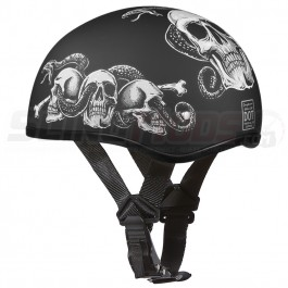 Daytona 1/2 Shell Skull Cap Graphic Series Helmet (DOT Approved)