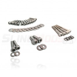 DDMWorks Stainless Steel Engine Dress-Up Bolt Kit for the Polaris Slingshot (38 Pieces)