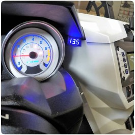 Electrical Connection Digital LED Battery Voltmeter for the Polaris Slingshot (2015-17)