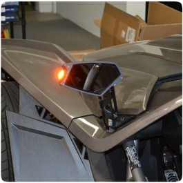 Electrical Connection Side View Mirror Turn Signals for the Polaris Slingshot (Pair)