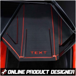 Foamskinz Dashboard Cover with Optional Custom Text Field for the Polaris Slingshot (Set of 2) (2020+)