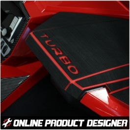 Foamskinz Dashboard Cover with Optional Custom Text Field for the Polaris Slingshot (Set of 2)