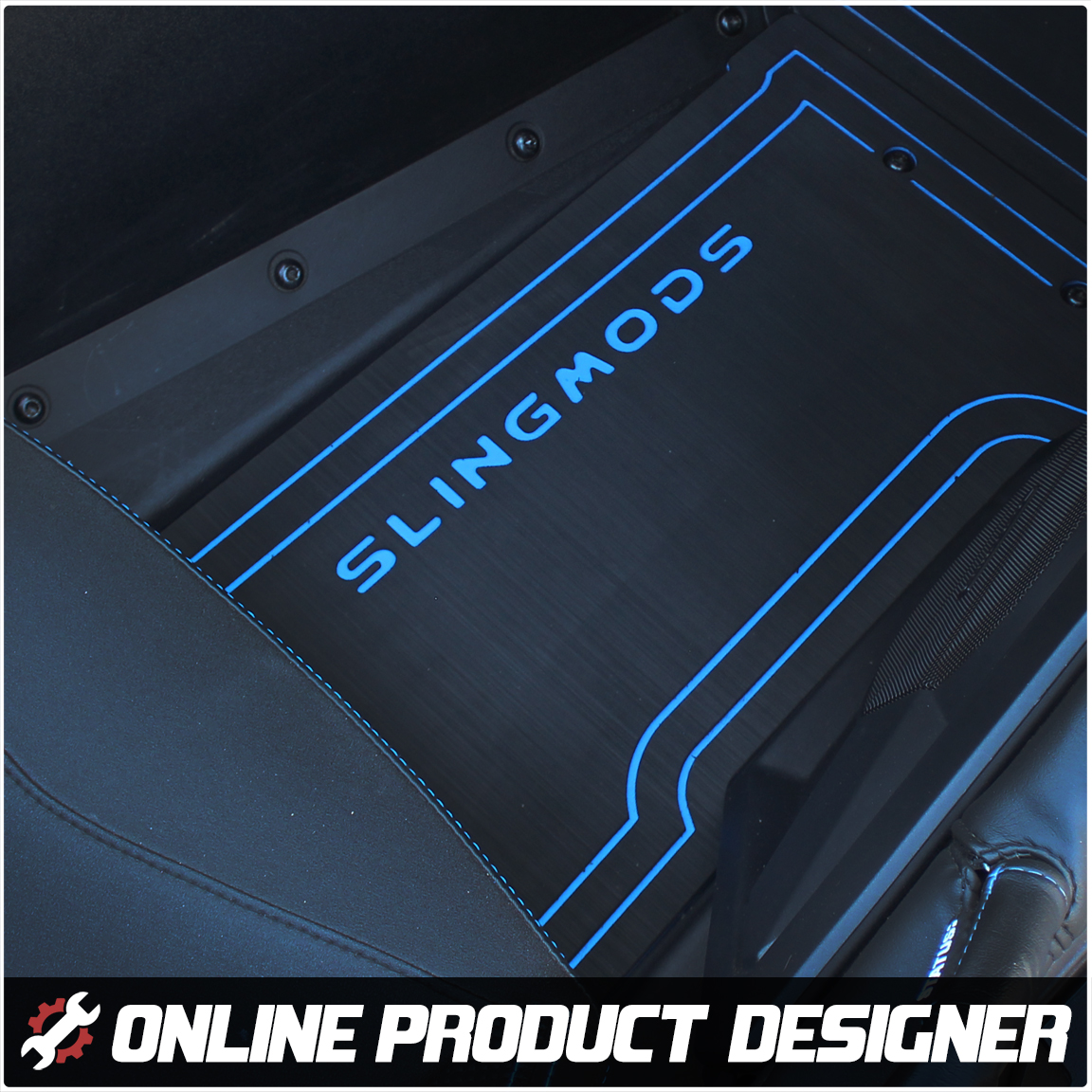 Foamskinz Floor Mats with Optional Custom Text Field for the Polaris Slingshot (Set of 2)