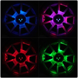 GloRyder Remote Control Wheel Lights for the Can-Am Ryker (Set of 3) (Black)