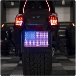 """4"""" x 6"""" Plug N' Play LED American Flag """"Add On"""" Kit for the Can-Am Ryker"""