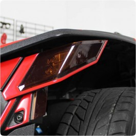 Lamin-X Precut Smoked Front Turn Signal & Reflector Lens Covers for the Polaris Slingshot (4 Piece Kit)