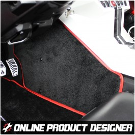 Ultimat Fitted Carpet Transmission Tunnel Mats for the Polaris Slingshot (Set of 2)
