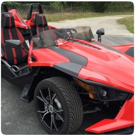 Madstad Single Adjustable Windshield for the Polaris Slingshot