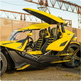 Metricks Twin Canopy Roof Top System for the Polaris Slingshot
