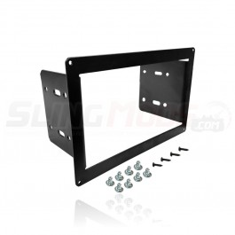 NavAtlas Aluminum Double Din Stereo Dash Mounting Kit for the Polaris Slingshot (2015-17)
