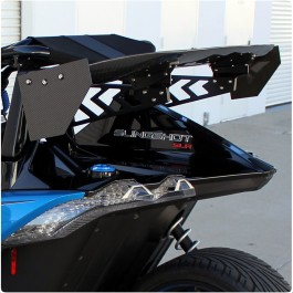 "NRG Innovations Carbon Fiber 59"" Rear Wing / Spoiler Kit for the Polaris Slingshot"
