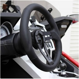 NRG RST-002RCF Round Split Spoke Steering Wheel w/ Carbon Accent for the Polaris Slingshot