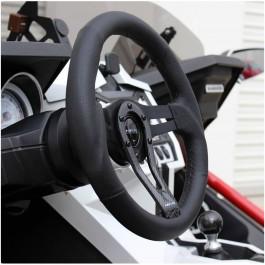 NRG RST-002RCF Round Split Spoke Steering Wheel w/ Carbon Accent for the Polaris Slingshot