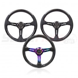 NRG ST-010 Series Round Carbon Fiber 3-Spoke Steering Wheels for the Polaris Slingshot