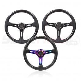 NRG ST-010 Series Round Carbon Fiber 3-Spoke Steering Wheels for the Polaris Slingshot