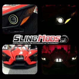 Front Amber LED Turn Signals with Reflectors for the Polaris Slingshot