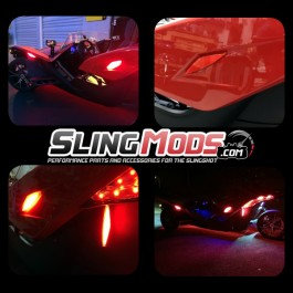 Red LED Markers with Safety Reflectors for the Polaris Slingshot