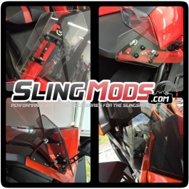 TricLED Adjustable A-Pillar Slingwingz for the Polaris Slingshot (Set of 2)