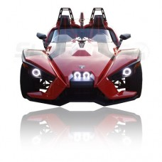TricLED Angel Eyes / Halo LED Headlight Kit for the Polaris Slingshot with Remote