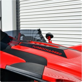 Slingfx Precut Vinyl Hood Spikes with Custom Text Field for the Polaris Slingshot (Pair)