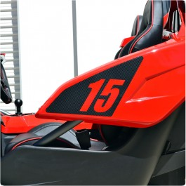 Slingfx Precut Personalized Side Panel Number Plate Decals for the Polaris Slingshot (Pair)