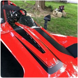 Slingfx Precut Vinyl Scalloped Center Hood Decal Kit for the Polaris Slingshot