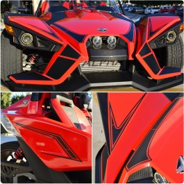 Slingfx Precut Vinyl Stealth Series Full Decal Kit for the Polaris Slingshot (14 Pieces)