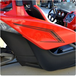 Slingfx Precut Stealth Series Vinyl Side Decal Kit for the Polaris Slingshot (Pair)