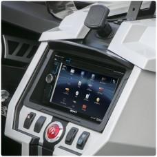Scosche Double Din Stereo Dash Kit with Sun Visor for the Polaris Slingshot (2015-17)