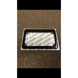 Used for Pictures / New - Gloss Black Personalized Motorcycle License Plate Frame Designer with Customizable Color & Text Field