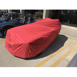 Used for Pictures - Red California Car Cover Fitted Outdoor All-Weather Cover for the Polaris Slingshot