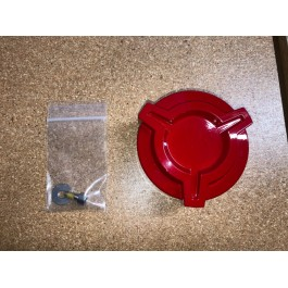 Like New - DDMWorks Billet Aluminum Gas Cap for the Polaris Slingshot Gloss Red