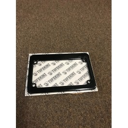 New / Returned - Gloss Black Personalized Motorcycle License Plate Frame