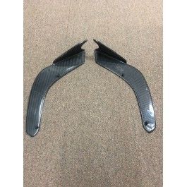 Used for Pictures - TricLED Carbon Fiber Front Splitter with Canards for the Can-Am Spyder F3 (2 Pieces)