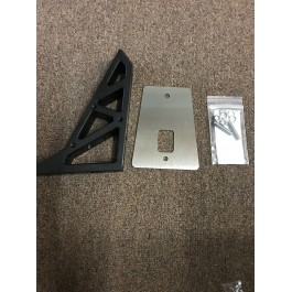 """Open Box - DDMWorks """"Ripper"""" Windshield Mounting Bracket with Wiring Ports for the Polaris Slingshot"""