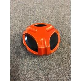 Missing Gasket - Nuclear Sunset Orange Twist Dynamics Billet Aluminum Gas Cap for the Polaris Slingshot