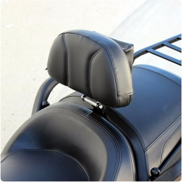 Show Chrome Adjustable Padded Driver Backrest with Storage Pouch for the Can-Am Spyder F3