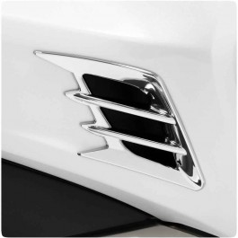 Show Chrome Front Fender Vent Accents for the Honda Gold Wing (Set of 2) (2018+)
