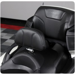 Show Chrome Adjustable Padded Driver Backrest with Storage Pouch for the Can-Am Spyder RT (2010-19)