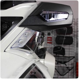 Show Chrome Clear Adjustable Below Mirror Wind Deflectors for the Can-Am Spyder RT (Pair)
